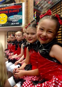 Preschoolers at a dance performance